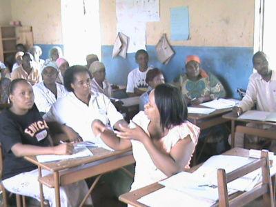 Formazione dei volontari in Zambia